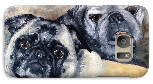 Galaxy Case featuring the painting Jack And Bella by Diane Daigle