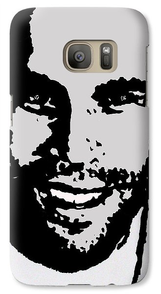 Galaxy Case featuring the drawing Jack Johnson In My Living Room by Robert Margetts