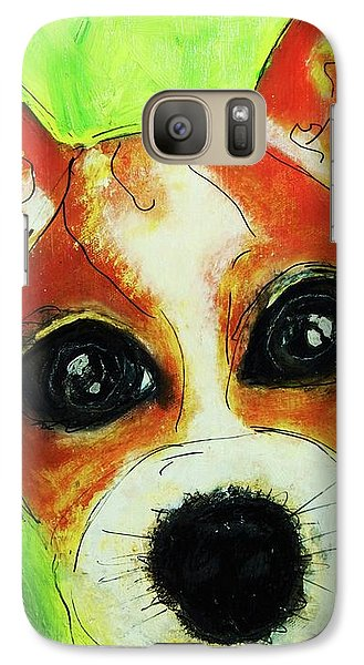 Galaxy Case featuring the painting Jack Russell - Cookie by Laura  Grisham