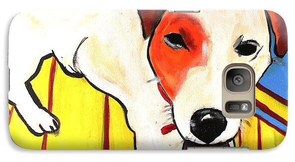 Galaxy Case featuring the painting Jack Russell Terrior- Peanut by Laura  Grisham