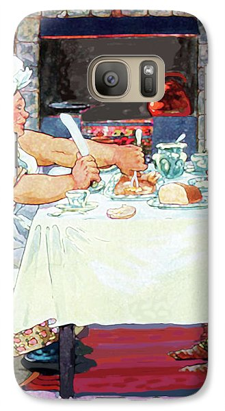 Galaxy Case featuring the painting Jack Sprat Vintage Mother Goose Nursery Rhyme by Marian Cates