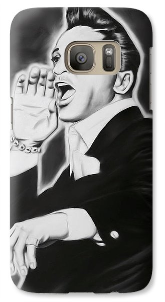 Galaxy Case featuring the painting Jackie Wilson by Darryl Matthews