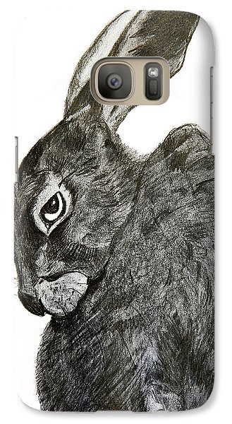 Galaxy Case featuring the drawing Jackrabbit Jock by Linde Townsend