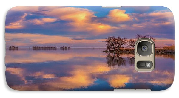 Galaxy Case featuring the photograph Jackson Lake Sunset by Darren White