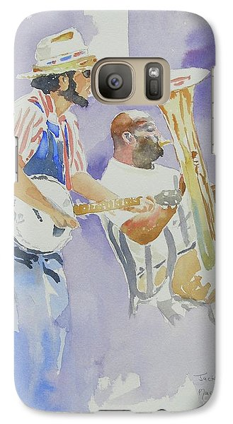 Galaxy Case featuring the painting Jackson Square by Mary Haley-Rocks