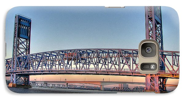 Galaxy Case featuring the photograph Jacksonville's Blue Bridge At Sunrise by Farol Tomson