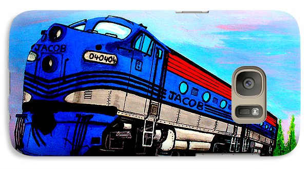 Galaxy Case featuring the painting Jacob The Train by Pjohn Artman