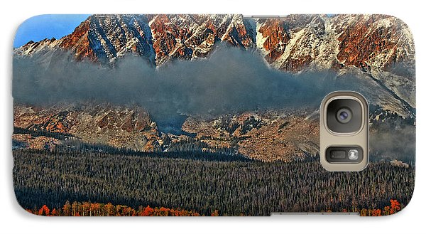 Galaxy Case featuring the photograph Jagged Peaks Fall by Scott Mahon