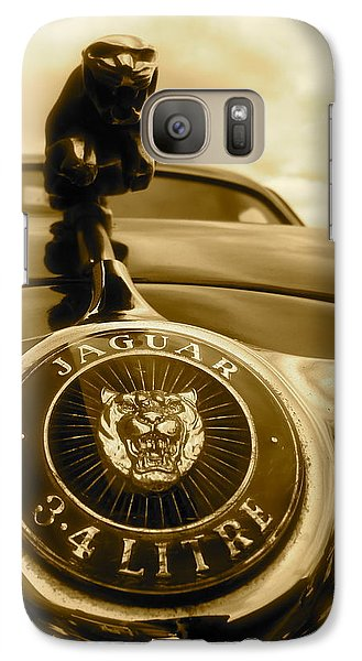 Galaxy Case featuring the photograph Jaguar Car Mascot by John Colley