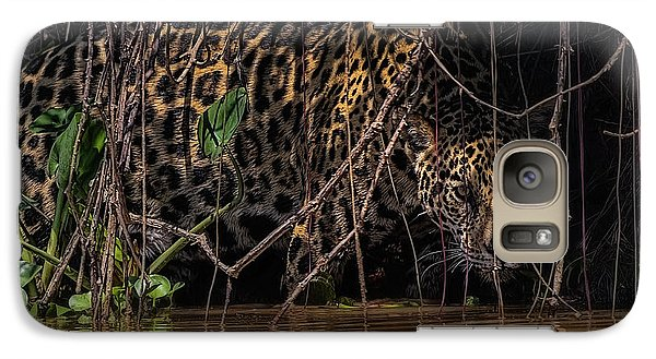Galaxy Case featuring the photograph Jaguar In Vines by Wade Aiken