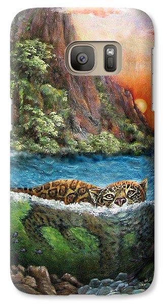 Jaguar Sunset  Galaxy S7 Case