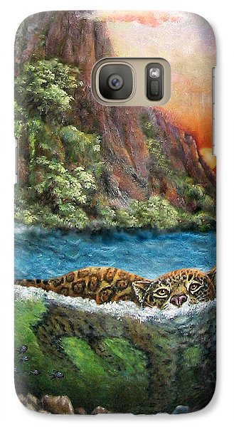 Jaguar Sunset  Galaxy S7 Case