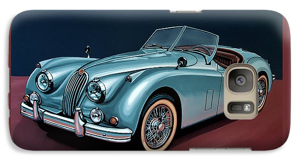 Swallow Galaxy S7 Case - Jaguar Xk140 1954 Painting by Paul Meijering