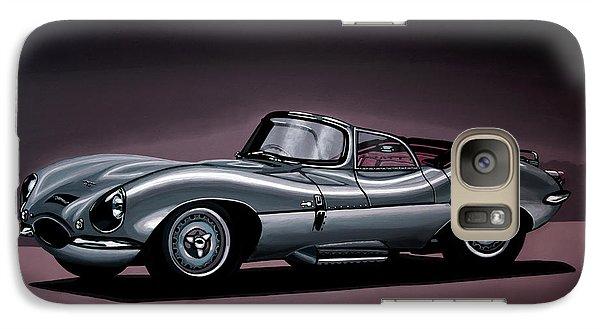 Swallow Galaxy S7 Case - Jaguar Xkss 1957 Painting by Paul Meijering