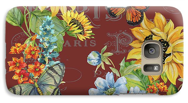 Galaxy Case featuring the painting Jaime Mon Jardin-jp3988 by Jean Plout
