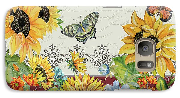 Galaxy Case featuring the painting Jaime Mon Jardin-jp3990 by Jean Plout