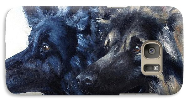 Galaxy Case featuring the painting Jake And Shiloh by Diane Daigle