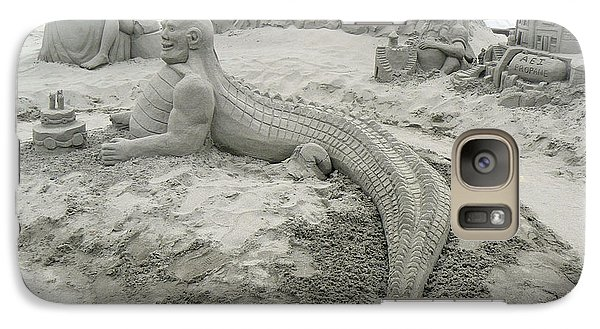 Galaxy Case featuring the photograph Jake The Alligator Man  by Pamela Patch
