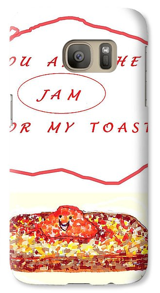 Galaxy Case featuring the drawing Jam For My Toast by Denise Fulmer