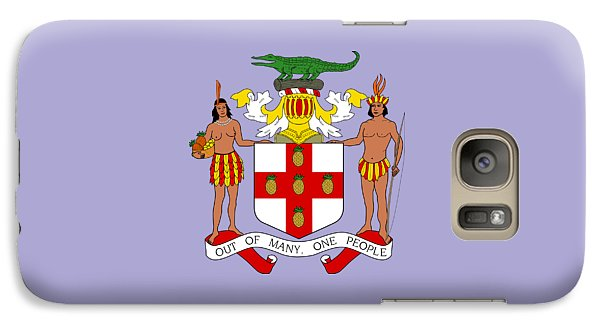 Galaxy Case featuring the drawing Jamaica Coat Of Arms by Movie Poster Prints