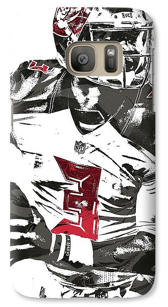 Galaxy Case featuring the mixed media Jameis Winston Tampa Bay Buccaneers Pixel Art by Joe Hamilton