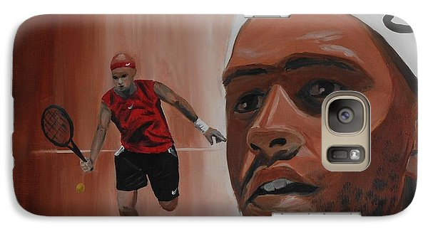 Galaxy Case featuring the painting James Blake by Quwatha Valentine
