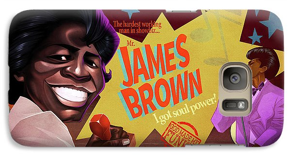 Galaxy Case featuring the drawing James Brown by Nelson Dedos Garcia