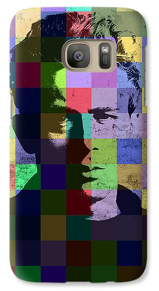 James Dean Actor Hollywood Pop Art Patchwork Portrait Pop Of Color Galaxy S7 Case by Design Turnpike