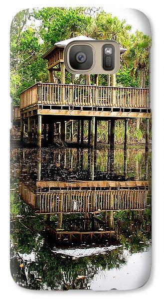 Galaxy Case featuring the photograph James E Grey Fishing Pier by Barbara Bowen