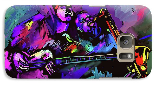Galaxy Case featuring the painting Jammin' The Funk by DC Langer