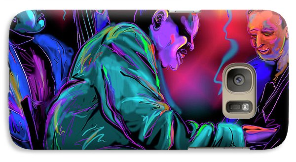 Galaxy Case featuring the painting Jamming With Oscar by DC Langer