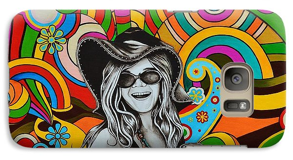 Galaxy Case featuring the painting Janis In Wonderland by Joseph Sonday