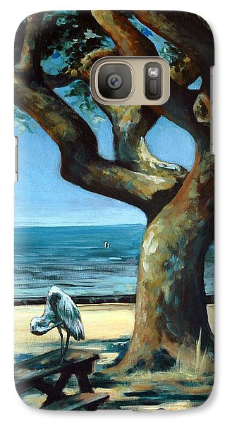 Galaxy Case featuring the painting January Afternoon by Suzanne McKee