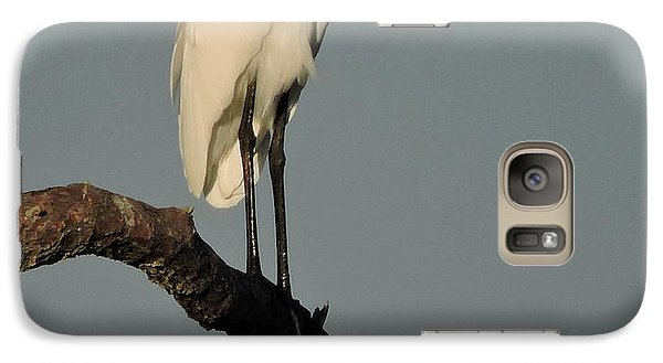 Galaxy Case featuring the photograph January Egret by Peg Toliver