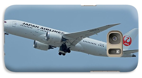 Galaxy Case featuring the photograph Japan Airlines Boeing 787-8 Ja835j Los Angeles International Airport May 3 2016 by Brian Lockett