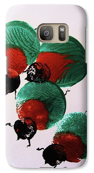 Galaxy Case featuring the painting Japanese Beetles by Roberto Prusso