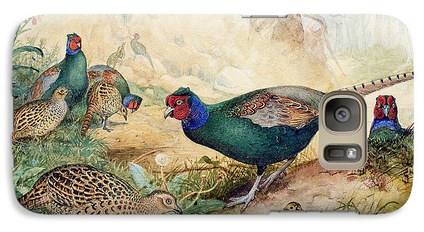 Japanese Pheasants Galaxy S7 Case by Joseph Wolf
