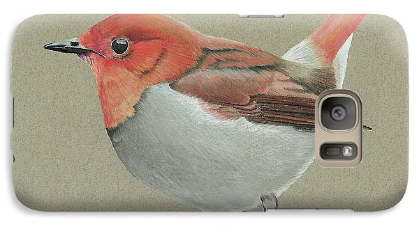 Galaxy Case featuring the drawing Japanese Robin by Gary Stamp