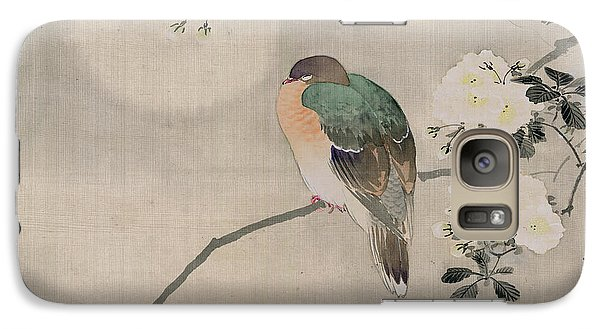 Japanese Silk Painting Of A Wood Pigeon Galaxy S7 Case