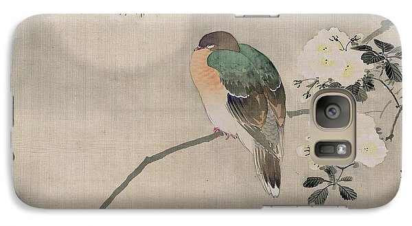 Japanese Silk Painting Of A Wood Pigeon Galaxy S7 Case by Japanese School
