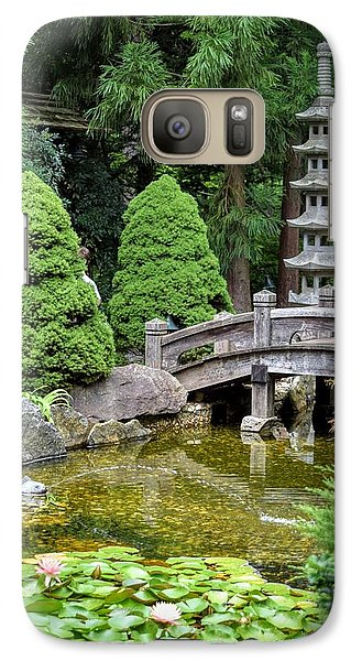 Galaxy Case featuring the photograph Japanese Style Retreat by Mary Zeman
