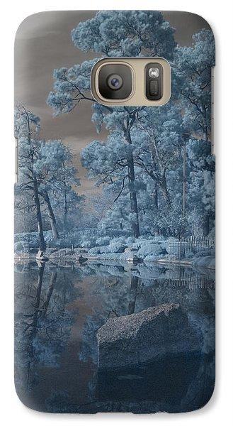 Galaxy Case featuring the photograph Japanese Tea Garden Infrared Center by Joshua House