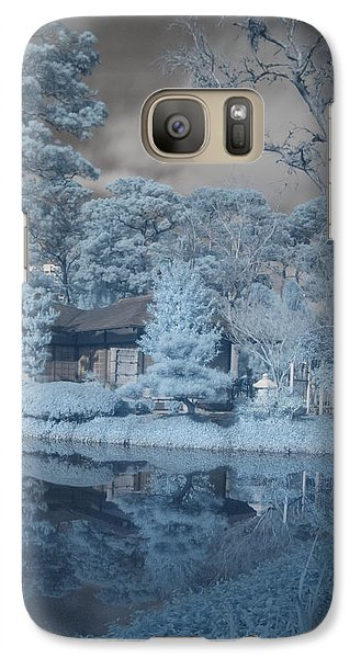 Galaxy Case featuring the photograph Japanese Tea Garden Infrared Right by Joshua House