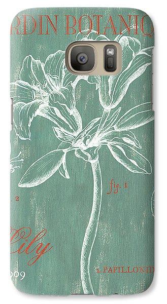 Lily Galaxy S7 Case - Jardin Botanique Aqua by Debbie DeWitt