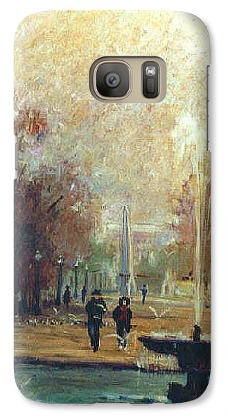 Galaxy Case featuring the painting Jardin Des Tuileries by Walter Casaravilla