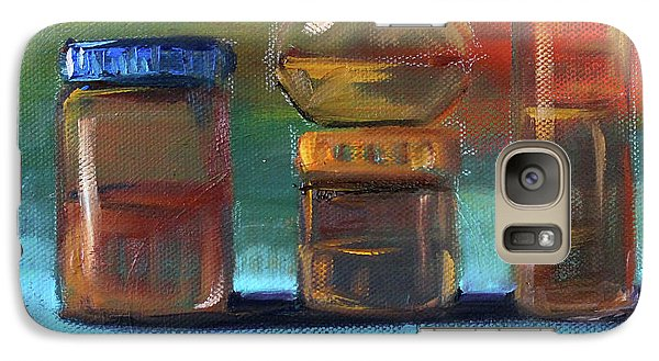Galaxy S7 Case featuring the painting Jars Still Life Painting by Nancy Merkle