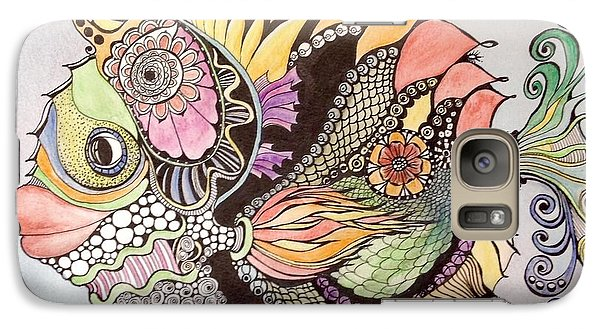 Galaxy Case featuring the painting Jasmine The Fish by Iya Carson
