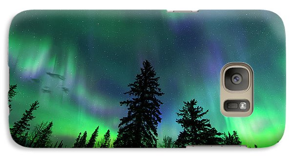 Galaxy Case featuring the photograph Jasper National Park Aurora by Dan Jurak