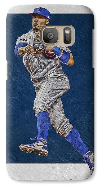 Chicago Cubs Galaxy S7 Case - Javier Baez Chicago Cubs Art by Joe Hamilton