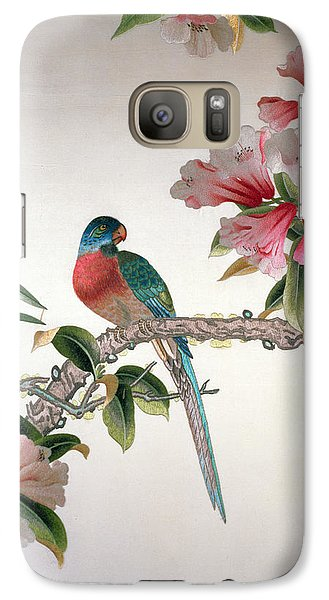 Jay On A Flowering Branch Galaxy S7 Case by Chinese School